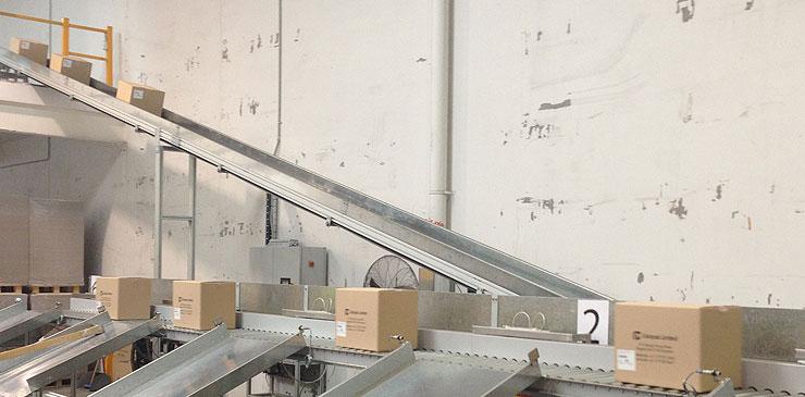 Incline Conveyors Cleated Belt Conveyor Goose Neck