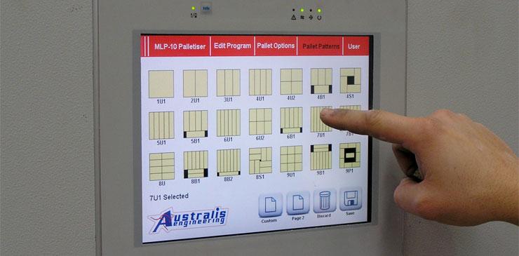 Mini Palletisers - HMI Touchscreen