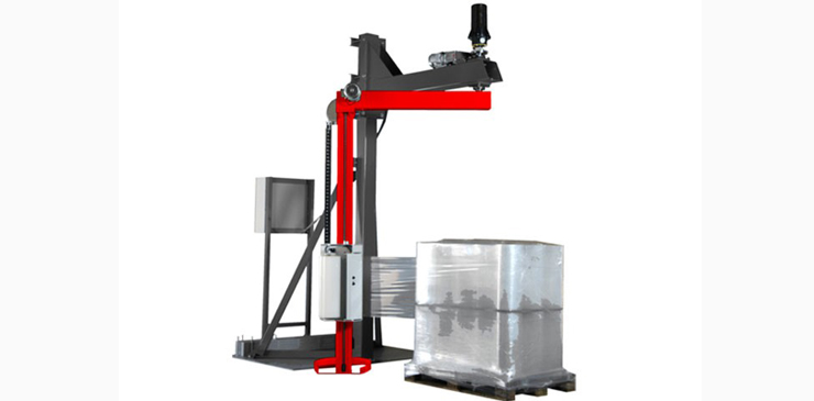 Semi Automatic Rotating Arm Wrapper Pallet Wrapper