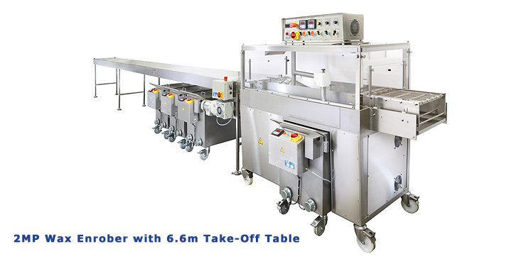 2MP Cheese Wax Enrober with Take Off Table