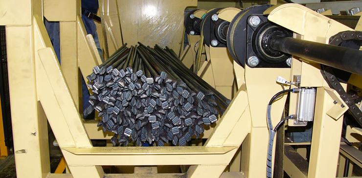 Steel bar handling system