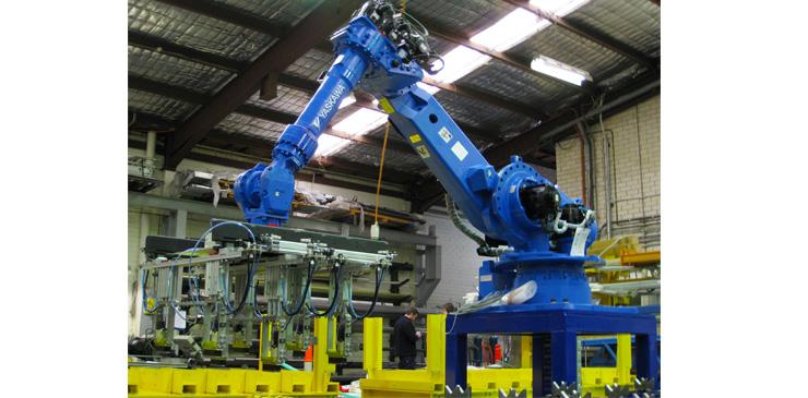 Multi Axis Robot for steel bar handling