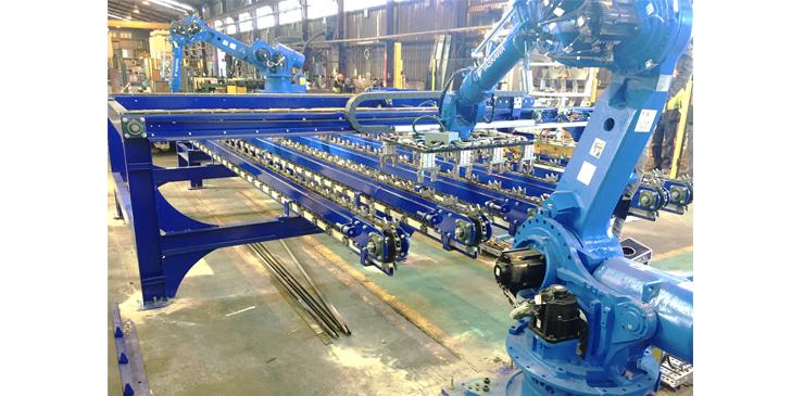 Robotic steel bar handling system